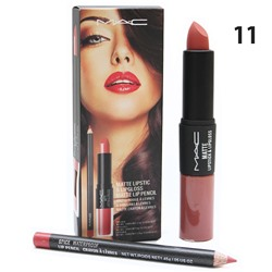 Помада - блеск - карандаш MAC Matte Lipstick & Lipgloss Matte Lip Pencil 3 in 1 № 11