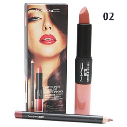 Помада - блеск - карандаш MAC Matte Lipstick & Lipgloss Matte Lip Pencil 3 in 1 № 2