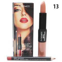 Помада - блеск - карандаш MAC Matte Lipstick & Lipgloss Matte Lip Pencil 3 in 1 № 13