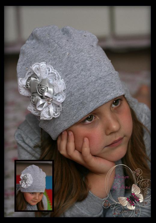 Украсить шапку детскую