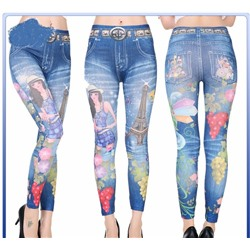 Леджинсы Slim`n Lift Caresse Jeans, с рисунком